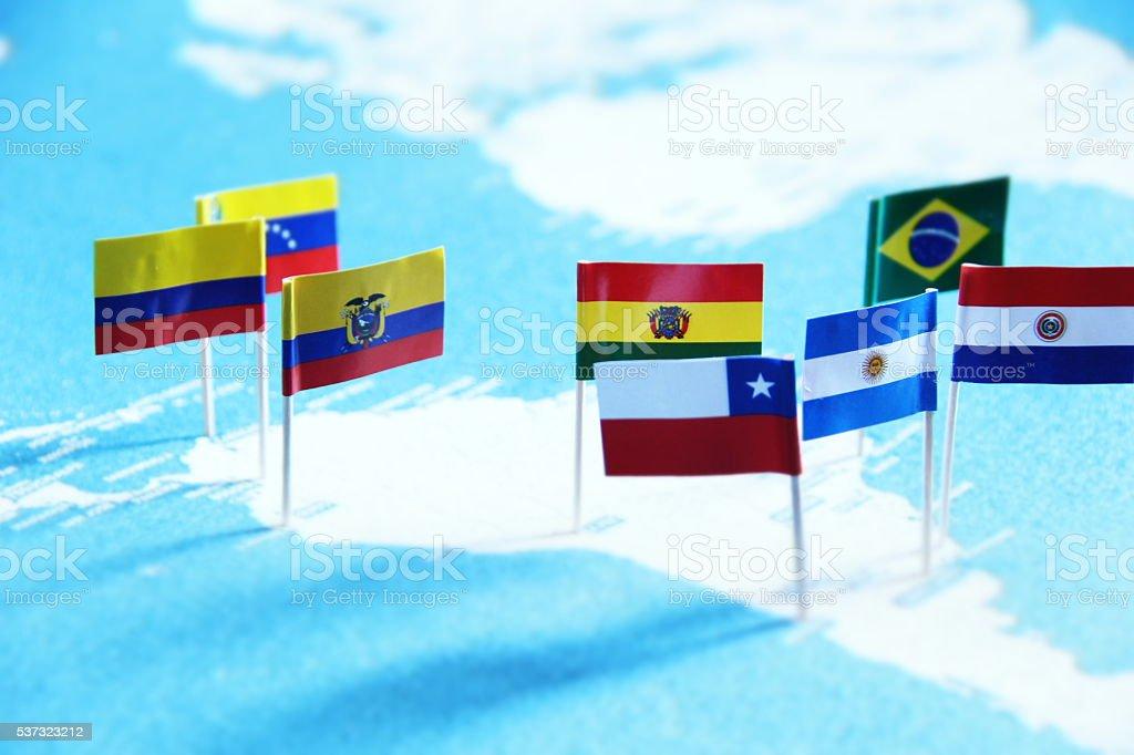 South American Map - foto de acervo