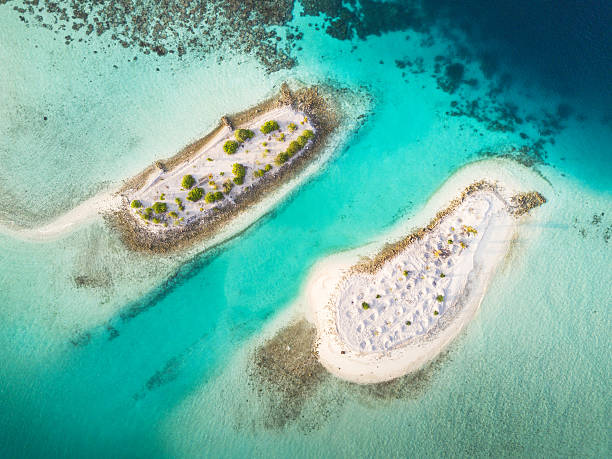 South Ari Atoll Maldives Islets Aerial View - foto stock