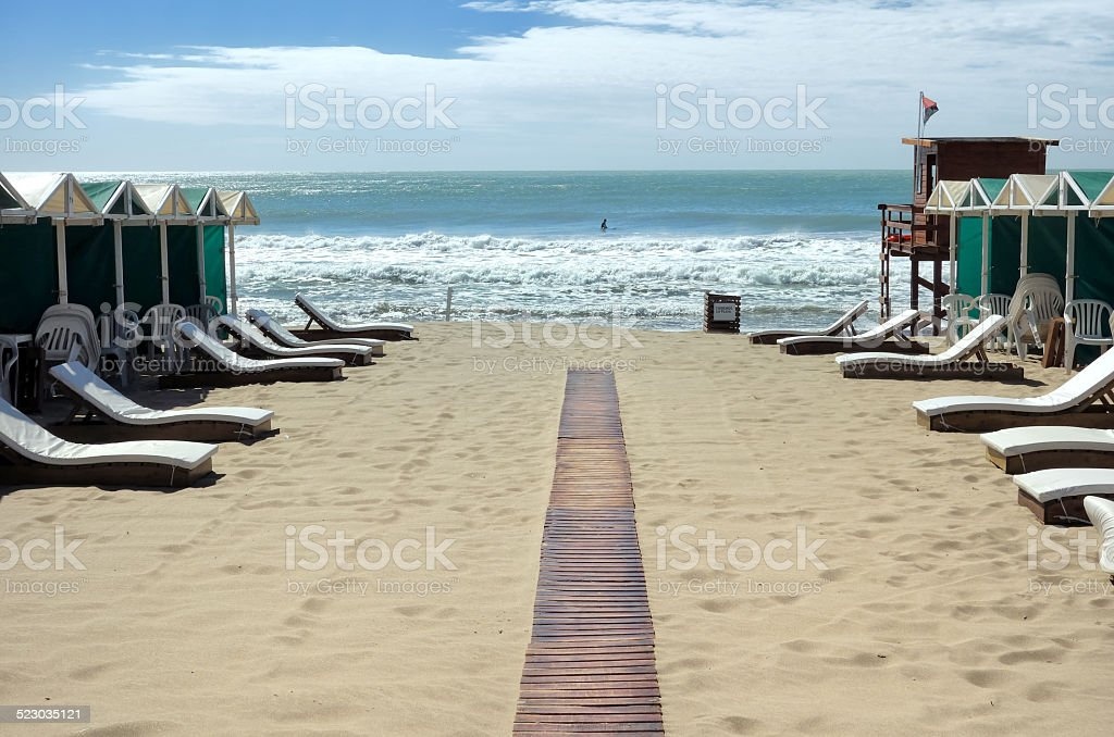South Atlantic beach stock photo