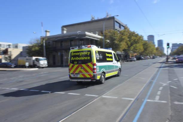 South Australia Emergency Ambulance stock photo