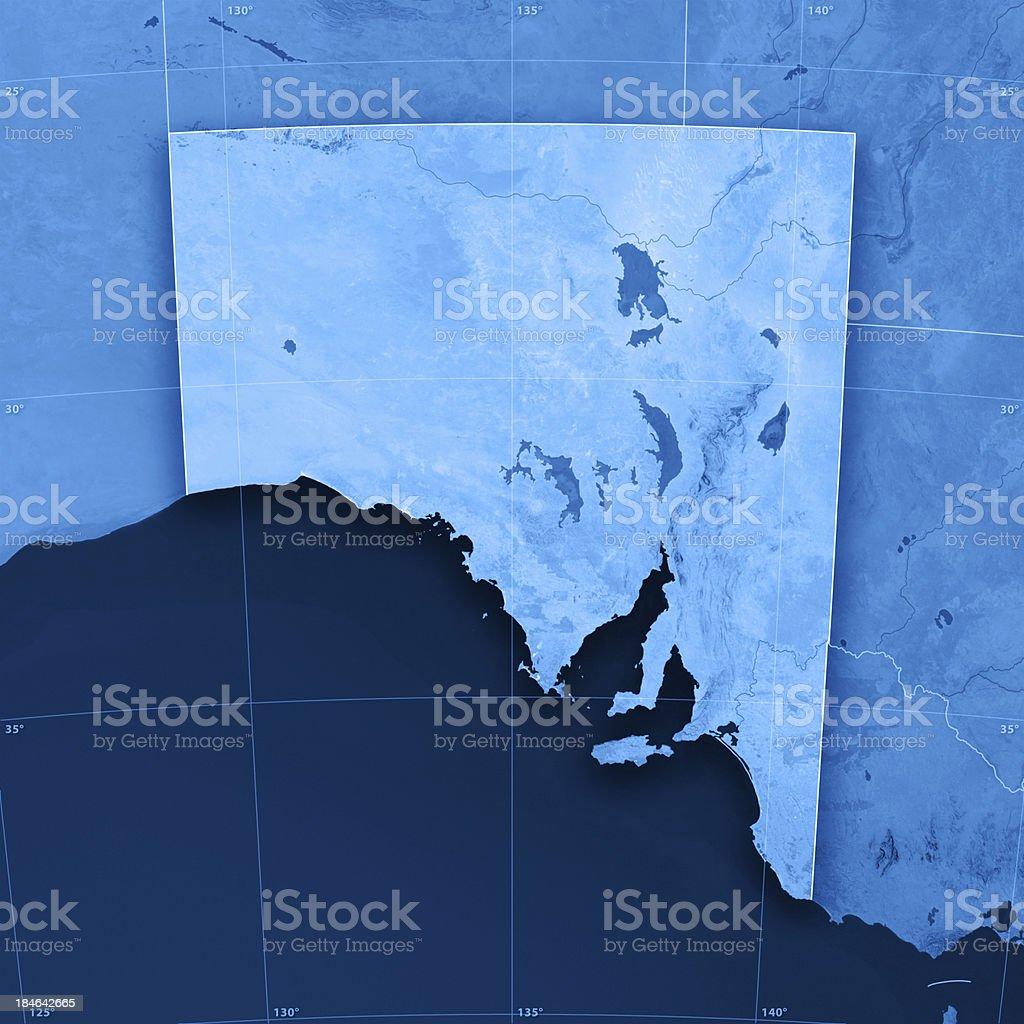 South Australia Topographic Map stock photo