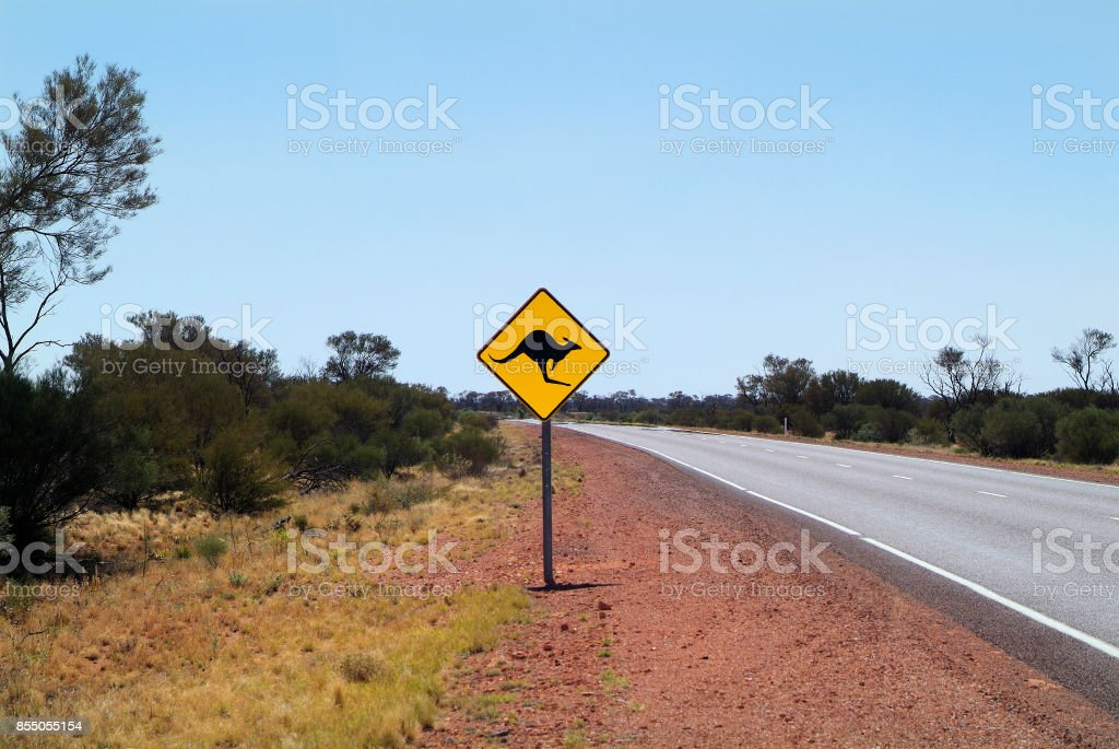 South Australia, warning sign stock photo