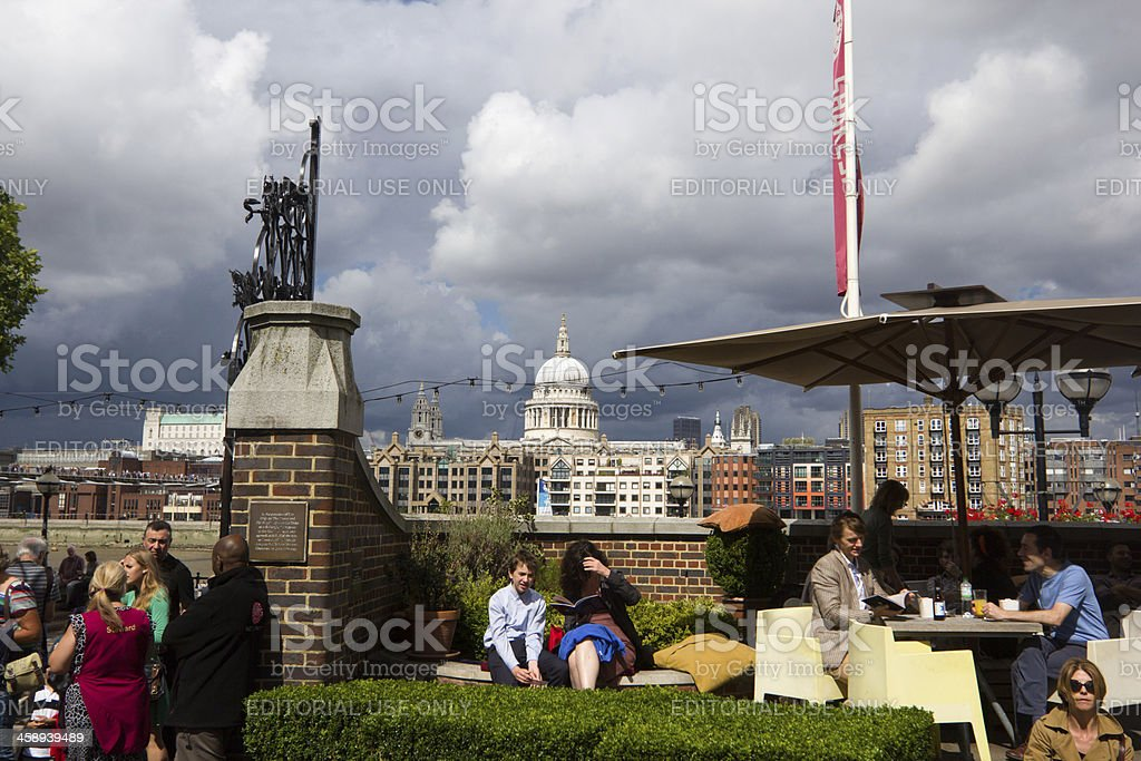 South Bank in London, England royalty-free stock photo