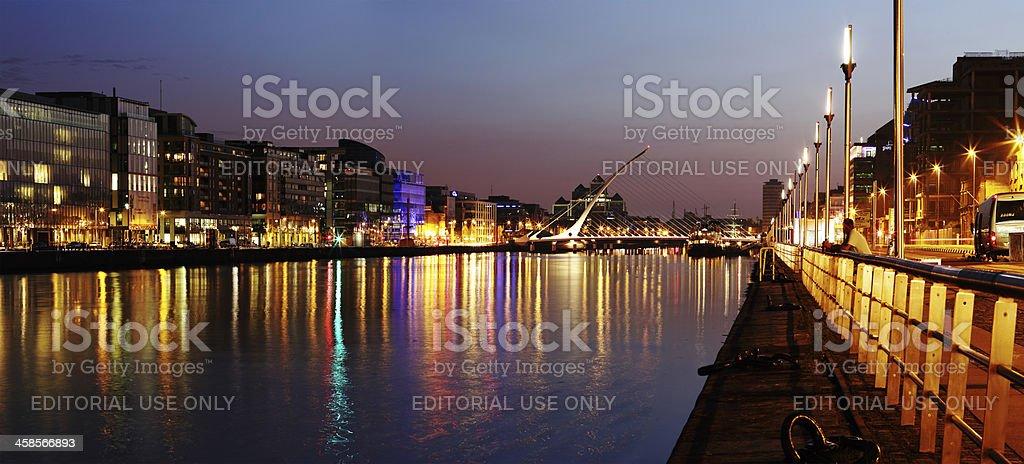South bank of the river Liffey at Dublin City Center royalty-free stock photo