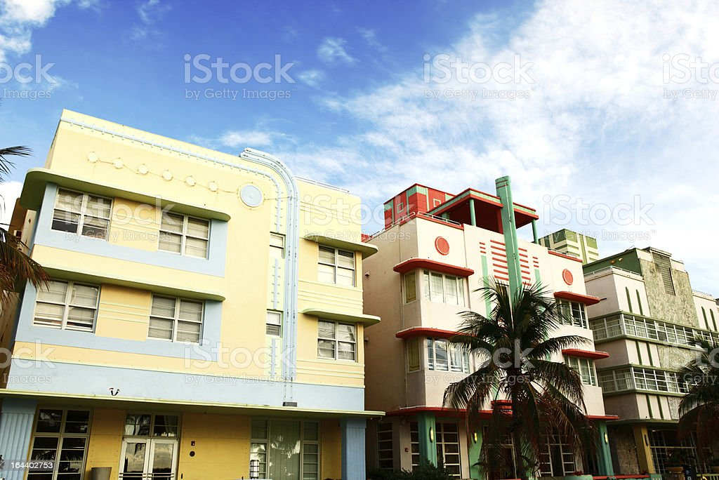 South Beach Architecture stock photo