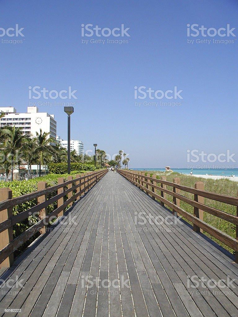 South Beach Board Walk royalty-free stock photo
