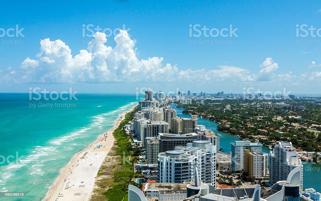 South Beach From Above royaltyfri bildbanksbilder