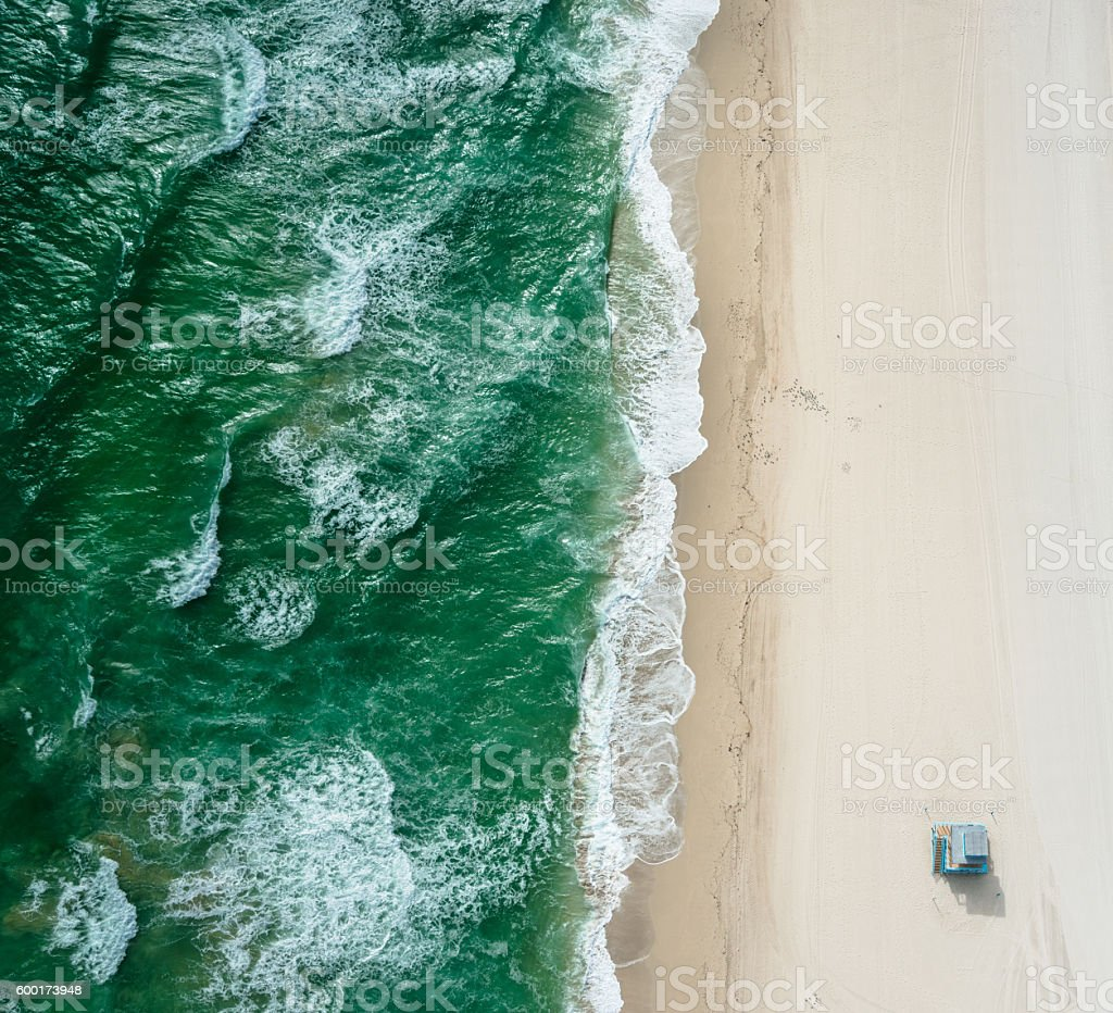 south beach from the air - miami​​​ foto