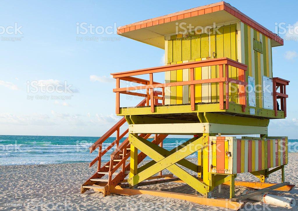 South Beach Lifeguard Station royalty-free stock photo