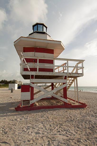 South Beach Lifeguard Station stock photo