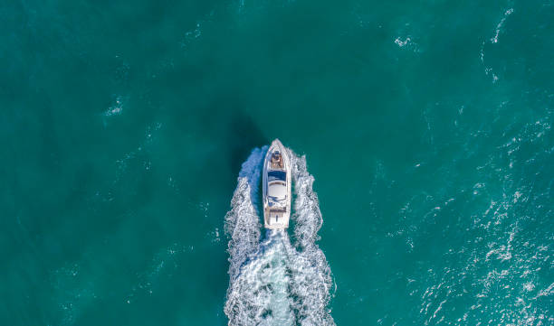 south beach miami aerial view - nautical vessel stock pictures, royalty-free photos & images