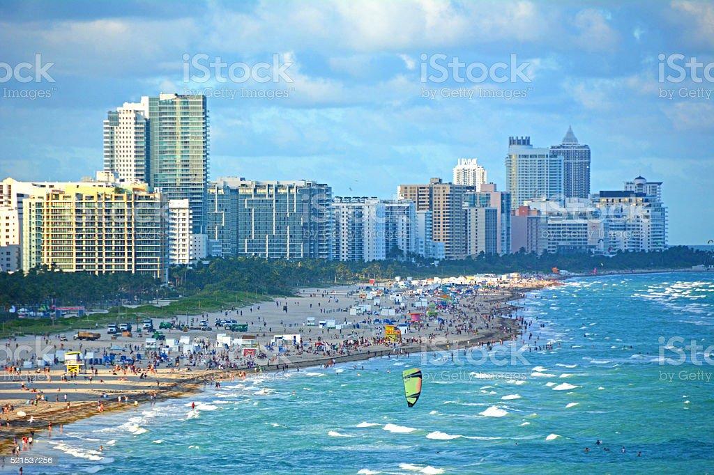 South Beach Miami Florida royalty-free stock photo