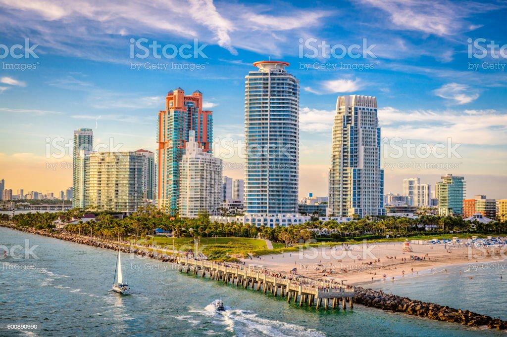 South Beach, Miami, Florida, USA stock photo