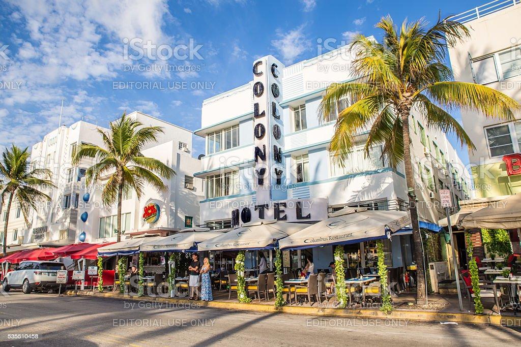 South Beach Miami Hotel stock photo