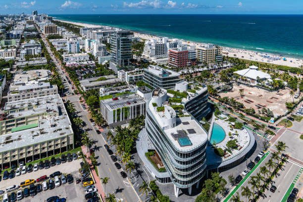 South Beach North View stock photo