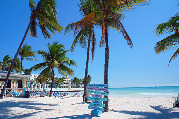 South Beach of Key West stock photo