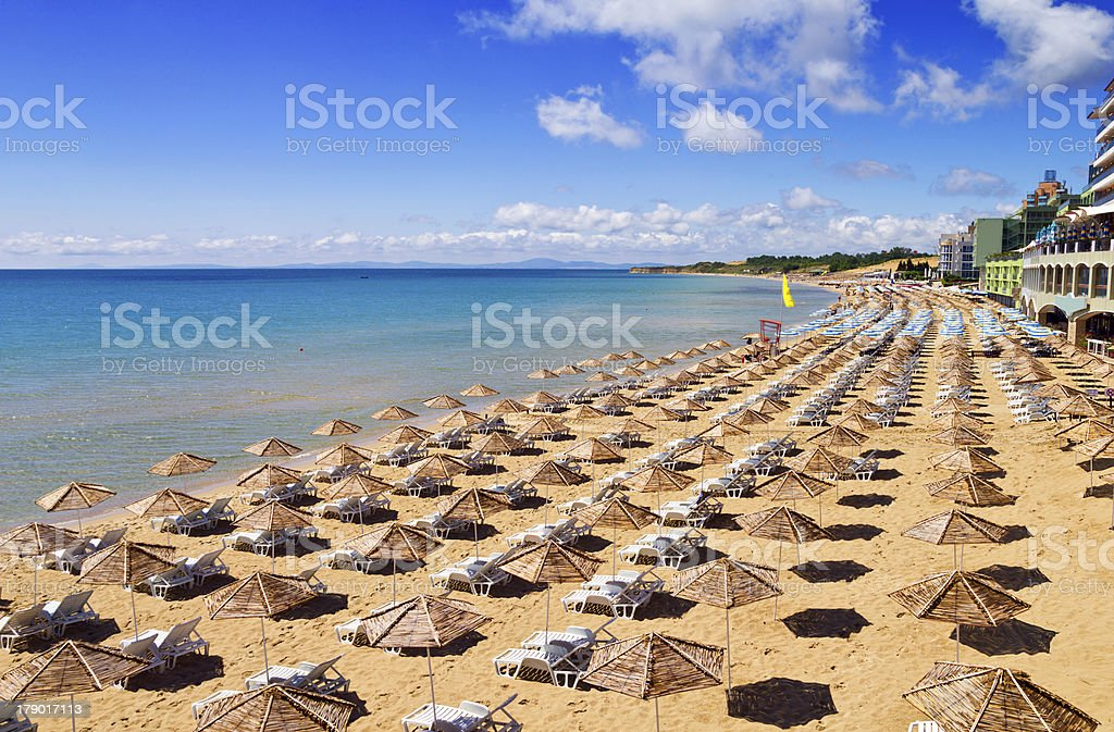 South Beach of Nessebar in summer stock photo