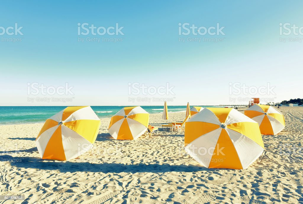 South Beach on a winters day stock photo