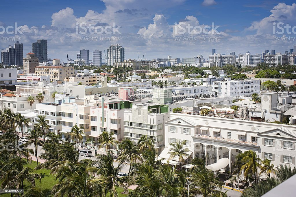 South Beach overlooking Ocean Drive royalty-free stock photo