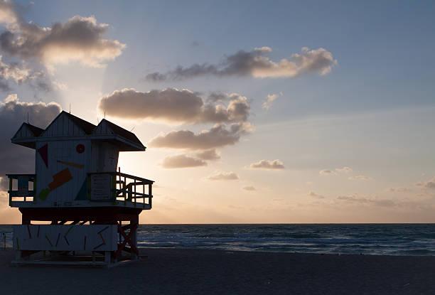 South Beach Sunbreak stock photo
