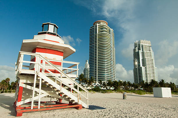 South Beach, the perfect vacation spot stock photo