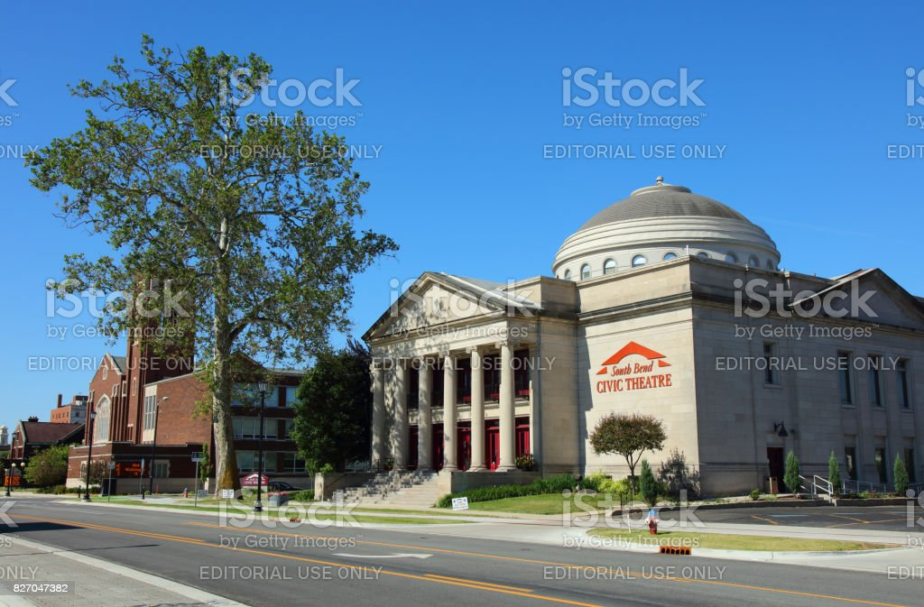 South Bend Civic Theatre stock photo