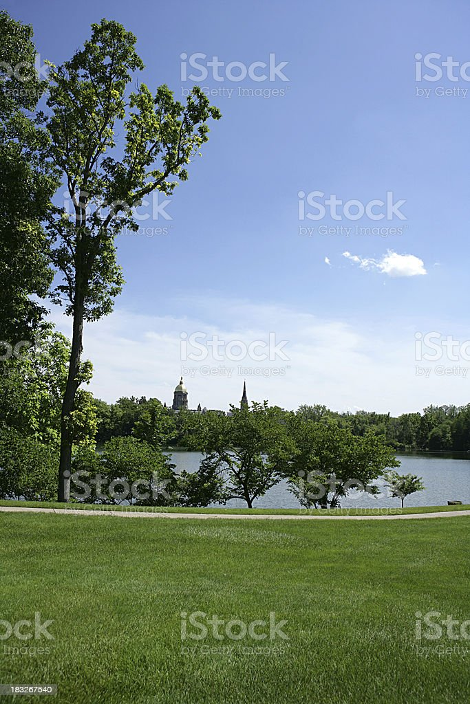 South Bend Indiana Vertical stock photo