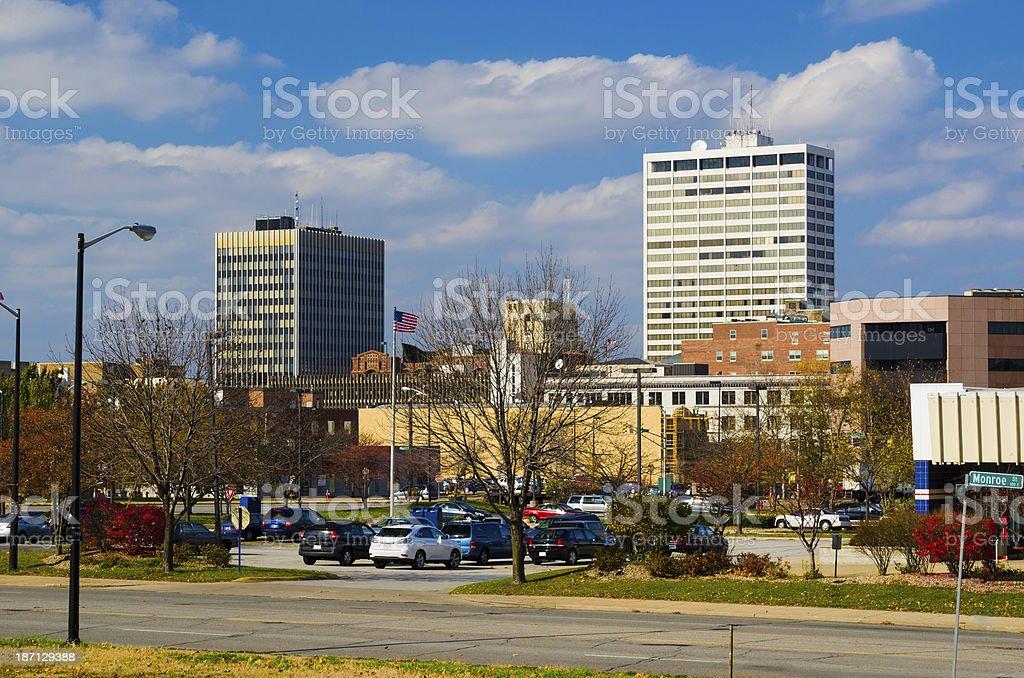 South Bend skyline stock photo