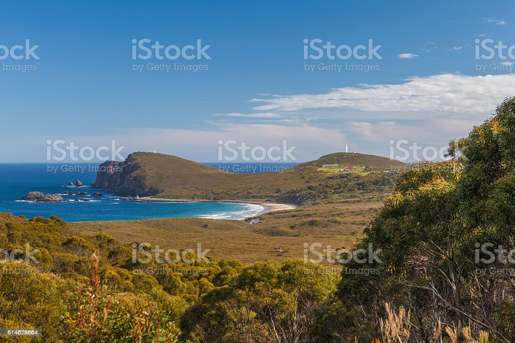 South Bruny National Park and Lighthouse. Bruny Island, Tasmania stock photo