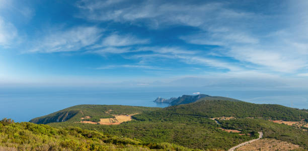 south cape of lefkas island, greece - headland stock pictures, royalty-free photos & images