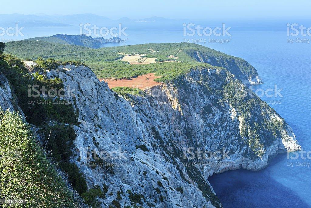 South cape of Lefkas island (Greece) royalty-free stock photo