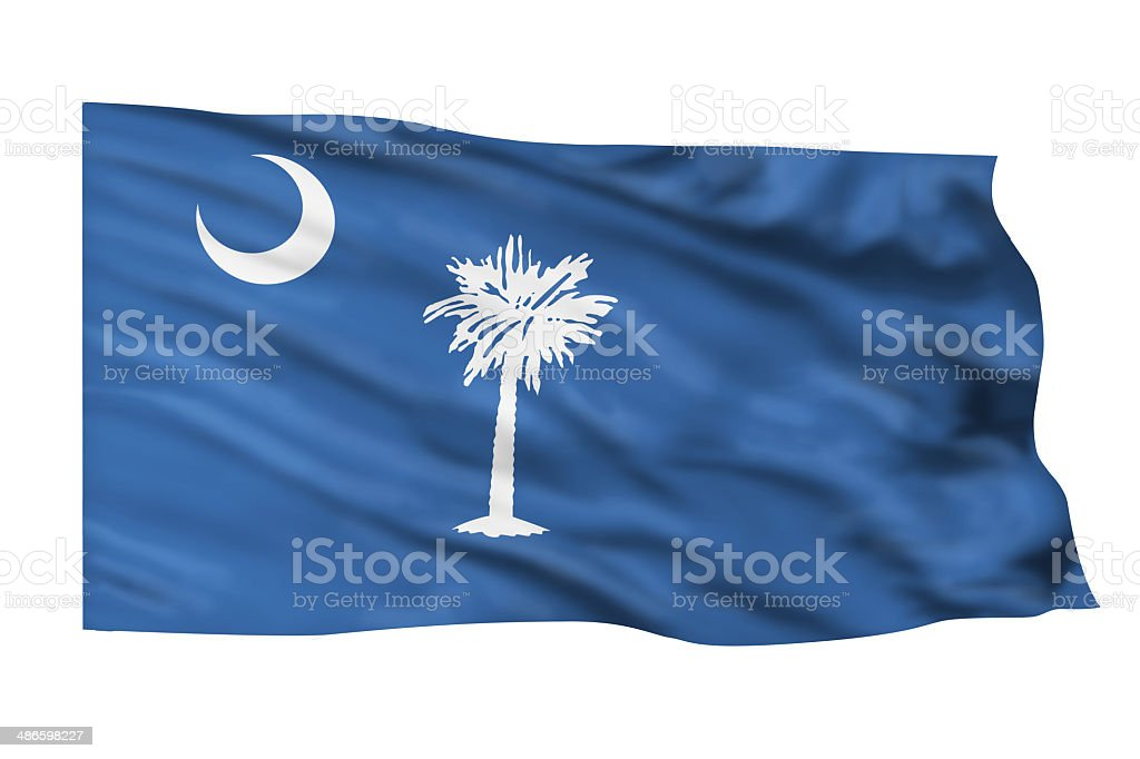 South Carolina Flag. stock photo