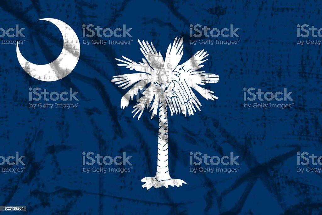 South Carolina flag stock photo