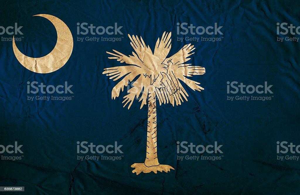 South Carolina grunge flag stock photo