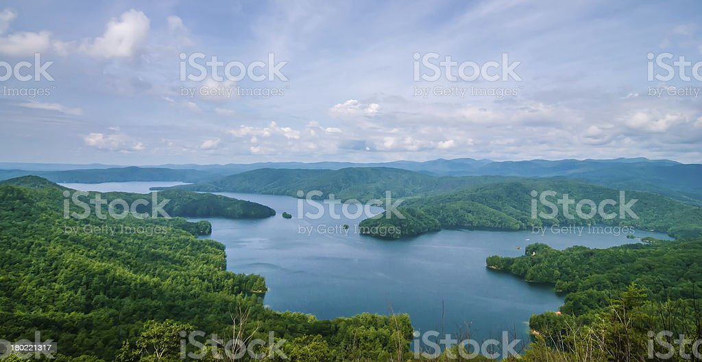 South Carolina Lake Jocassee Gorges Upstate Mountain royalty-free stock photo