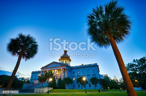 The South Carolina State Capitol Building in Columbia, South Carolina.
