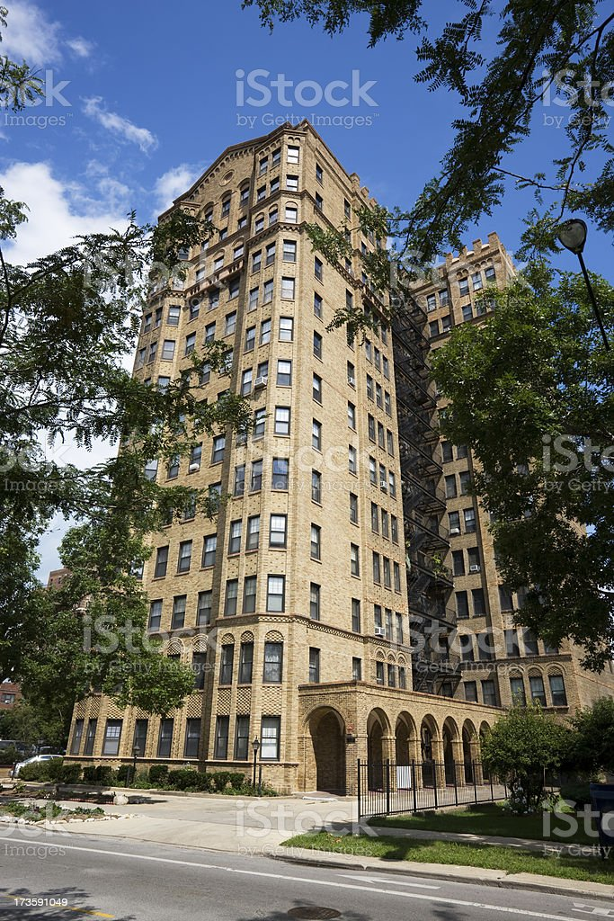 South Chicago Vintage Apartments royalty-free stock photo