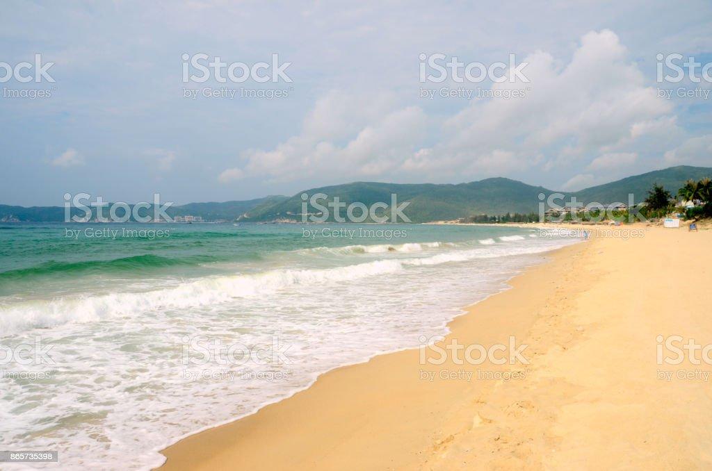 South China Sea Coast, Bay Yalong, Hainan Island China, may 2011 stock photo