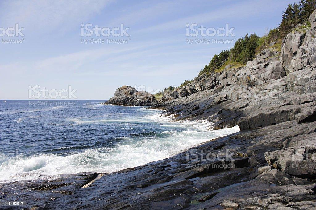 South Coast of Monhegan Island - Royalty-free Coastline Stock Photo