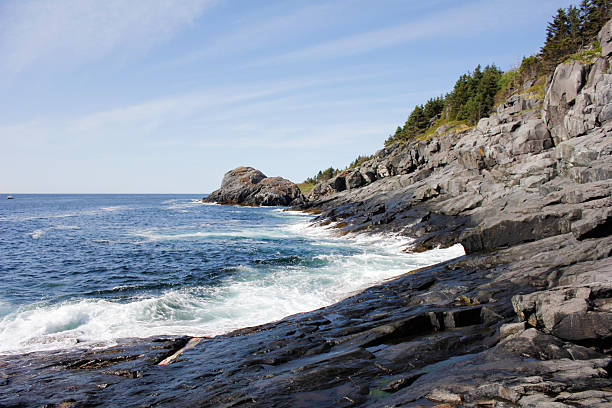 South Coast of Monhegan Island stock photo