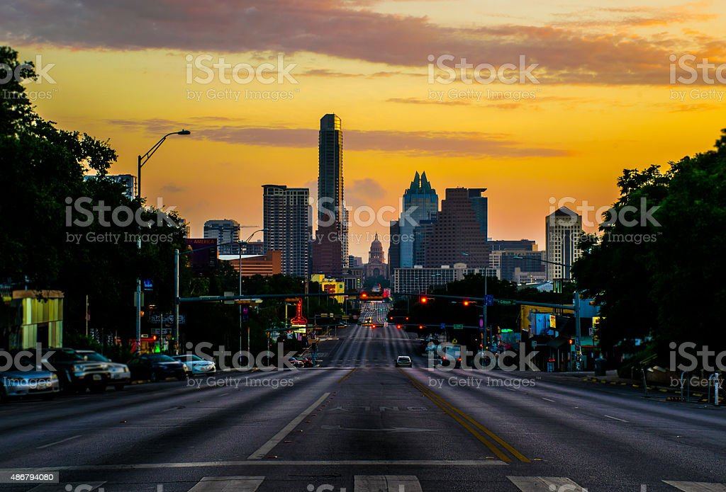 South Congress Austin Texas Capital City View stock photo