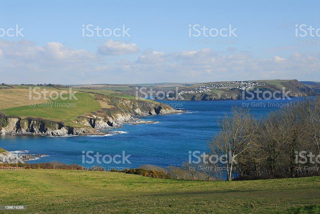 South Cornish Coastal Path Fowey royalty-free stock photo