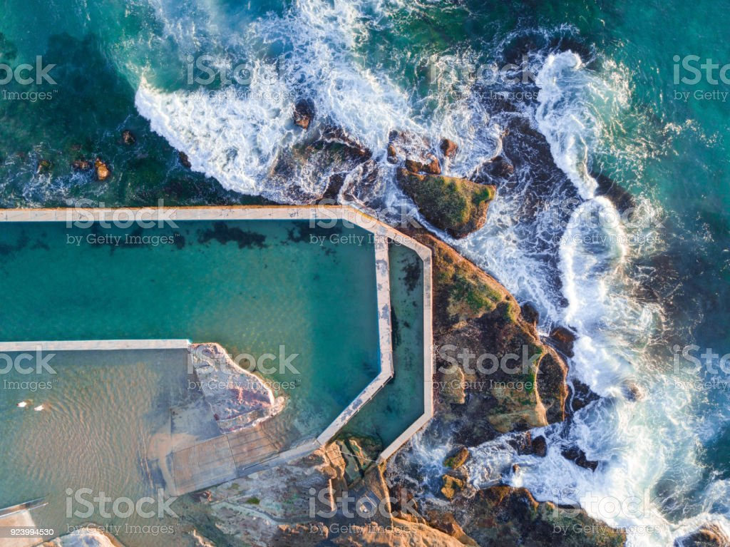 South Curl Curl pool stock photo