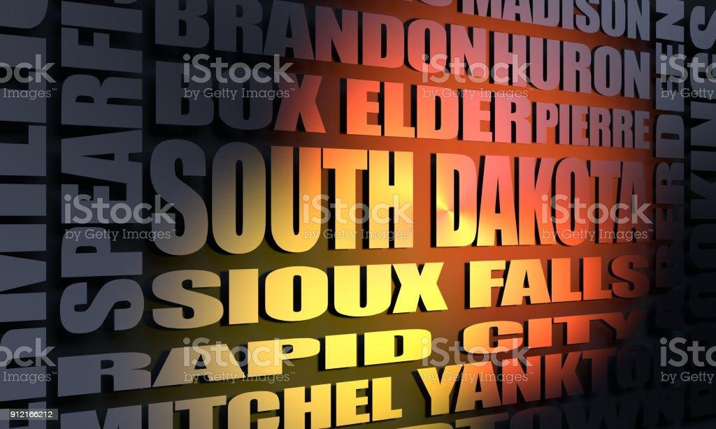 South Dakota cities list stock photo