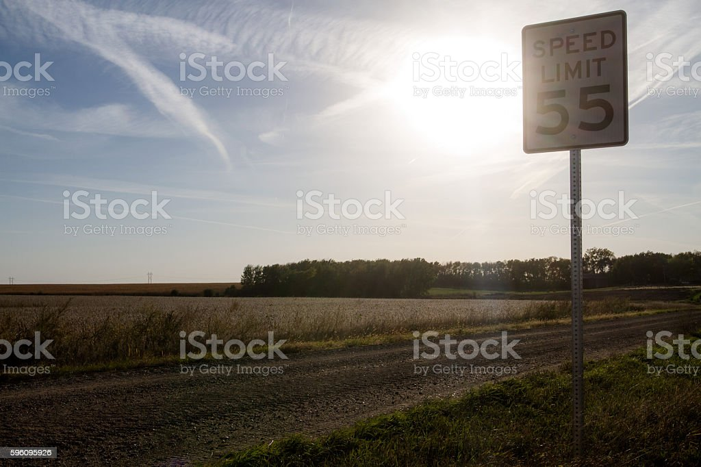 South Dakota Speed Limit royalty-free stock photo