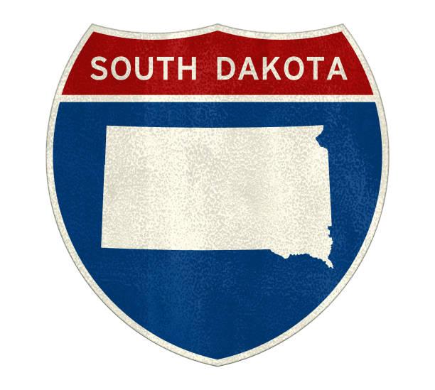 South Dakota State Interstate Road Sign – Foto