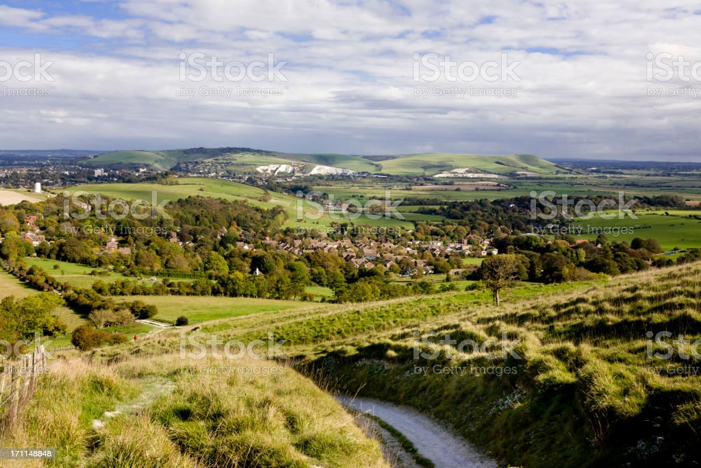 South Downs in East Sussex stock photo