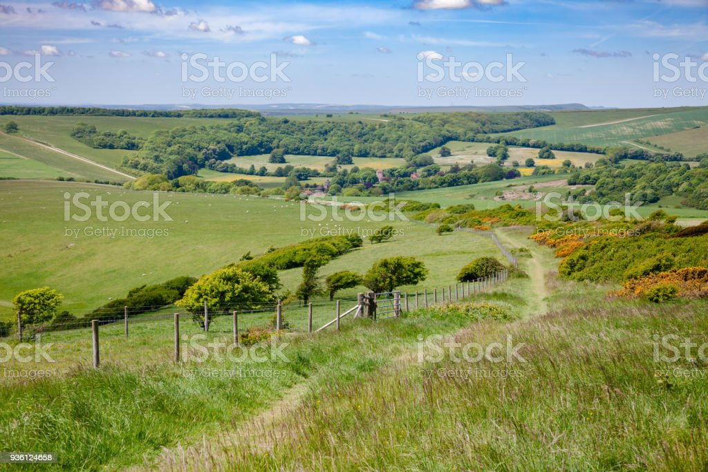 South Downs Way National Trail in Sussex Southern England UK stock photo