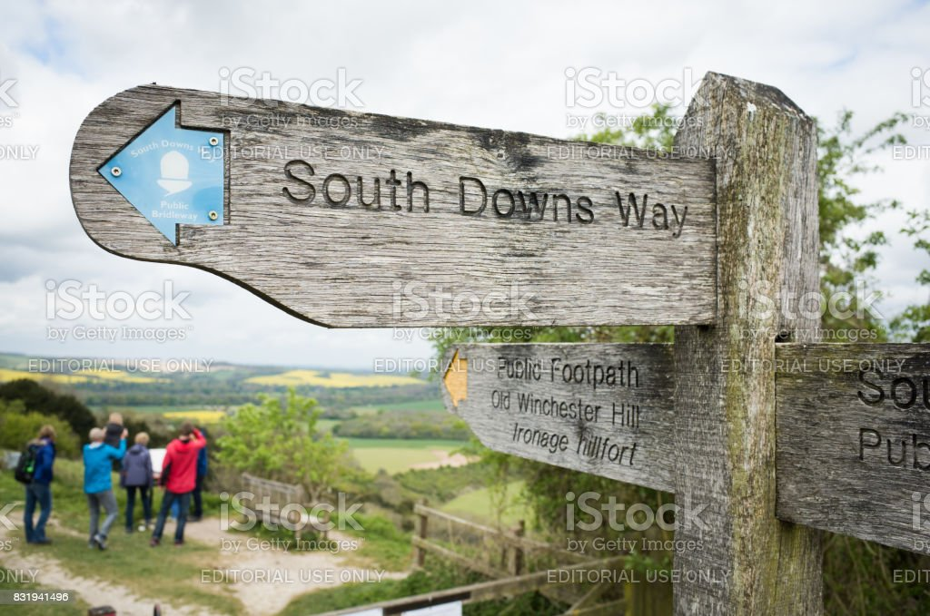 South Downs Way Public Footpath royalty-free stock photo