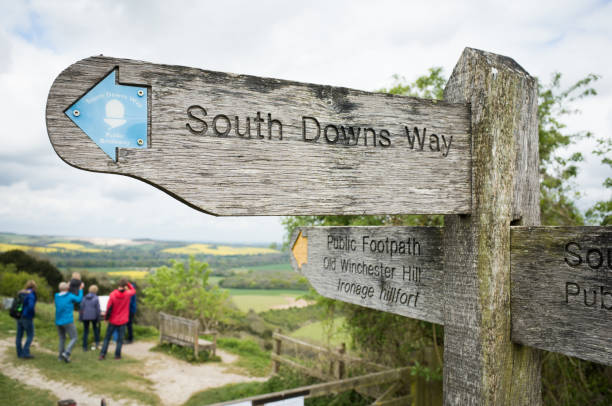 South Downs Way Public Footpath stock photo